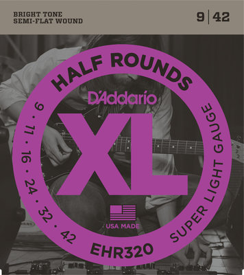 D'Addario EHR 320 Half Round Super Light