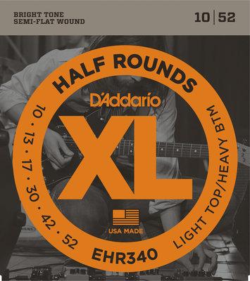 D'Addario EHR 340 half round, regular light top/heavy bottom