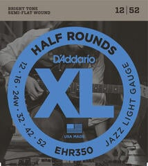 D'Addario EHR 350 half round, jazz light