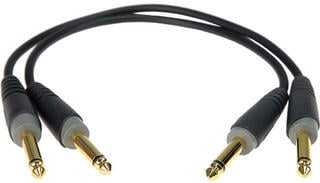 Klotz AB-JJ Patch Cable Mono Black/Straight - Straight