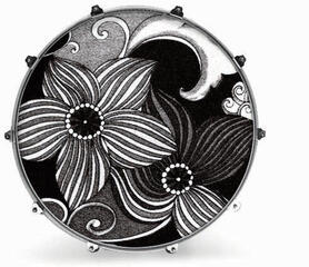 Evans 24'' FABRIC B&W FLOWER