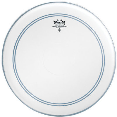 Remo Powerstroke 3 Clear 18'' 2-1/2'' White Falam Patch
