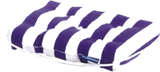 Talamex Cushion Kapok Striped Blue-White