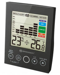 Bresser MA Digital Hygrometer with Mould Alert Black