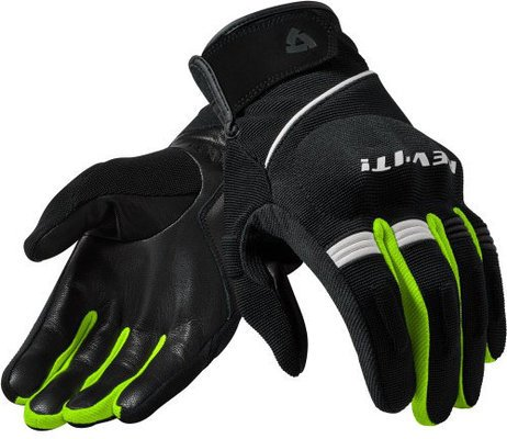 Rev'it! Gloves Mosca Black-Neon Yellow M