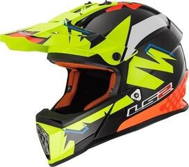 LS2 MX437 Volt Volt Black Yellow Orange