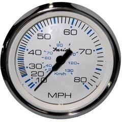 Faria Tachometer 70 MPH - biely