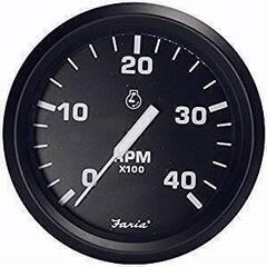 Faria Tachometer 0-4000 RPM diesel - nero
