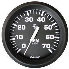 Faria Tachometer 0-7000 RPM - Black