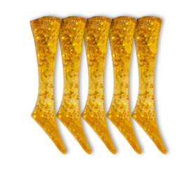 Headbanger Lures Shad 11 Replacement tails 5 pcs Golden Glitter