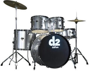 DDRUM D2 Series 5-Set Brushed Silver