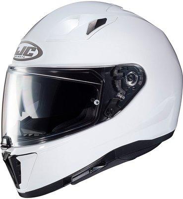 HJC i70 Solid Metal Pearl White M