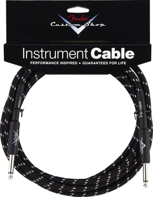 Fender Custom Shop Performance Series Cable 5.5m Black Tweed