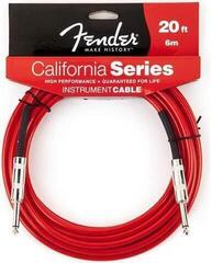 Fender California Instrument Cable 6m Candy Apple Red