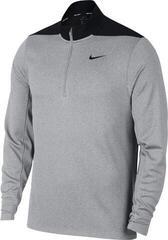 Nike Dry Core 1/2 Zip Mens Sweater Wolf Grey/Pure Platinum/Black XL