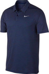 Nike Dry Essential Stripe Koszulka Polo Do Golfa Męska Blue Void/Flat Silver