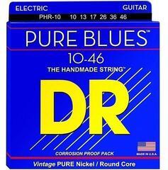 DR Strings PHR 10 Pure Blues Nickel Medium Electric Guitar Strings