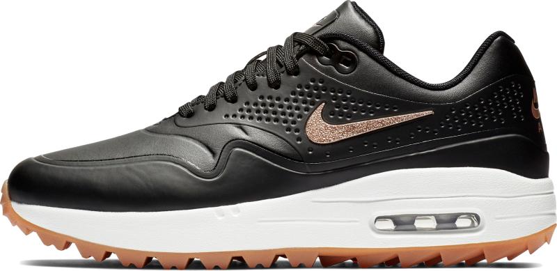 Nike Air Max 1G Womens Golf Shoes Black/Metallic Red US 6,5 - Muziker