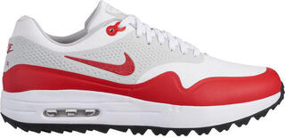 Nike Air Max 1G Mens Golf Shoes White/University Red