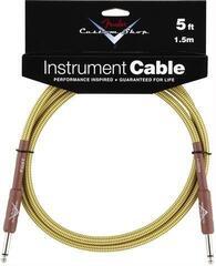 Fender Custom Shop Performance Cable Žltá/Opletený-Rovný - Rovný
