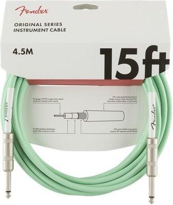 Fender Original Series Instrument Cable 4,5 m Surf Green