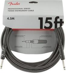 Fender Professional Series Instrument Cable Grey/Braided-Straight - Straight