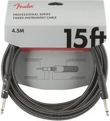 Fender Professional Series Instrument Cable Šedá/Opletený-Rovný - Rovný
