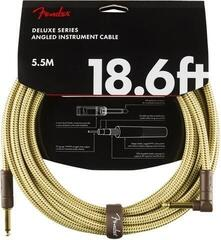 Fender Deluxe Series Instrument Cable S/A 5,5 m Tweed