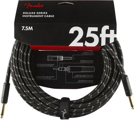 Fender Deluxe Series Instrument Cable S/S 7,5 m Black Tweed