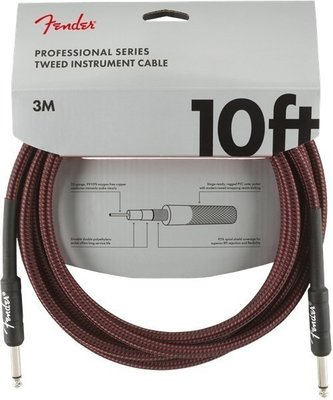 Fender Professional Series Instrument Cables 3 m Red Tweed