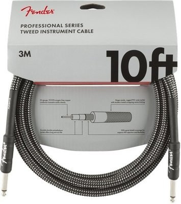 Fender Professional Series Instrument Cables 3 m Gray Tweed