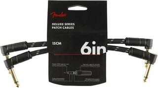 Fender Deluxe Series Instrument Cables A/A 15 cm Black Tweed 2-Pack