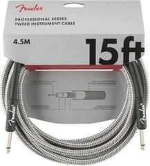 Fender Professional Series Instrument Cable White/Braided-Straight - Straight