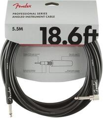 Fender Professional Series Instrument Cable Straight/Angled Negru/Drept - Oblic