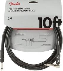 Fender Professional Series Instrument Cable Straight/Angled Nero/Dritto - Angolo