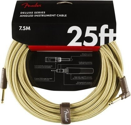 Fender Deluxe Series Instrument Cable S/A 7,5 m Tweed
