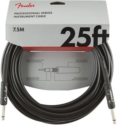Fender Professional Series Instrument Cable S/S 7,5 m Black