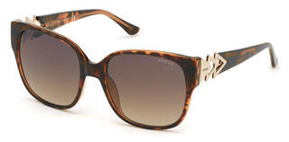 Guess GU7597 52G 56 Dark Havana/Brown Mirror