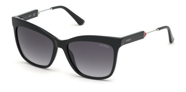 Guess GU7620 01B 55 Shiny Black /Gradient Smoke