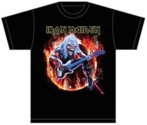 Iron Maiden Mens Tee Fear Live Flames XL