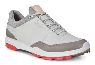 Ecco Biom Hybrid 3 Mens Golf Shoes Concrete/Scarlet