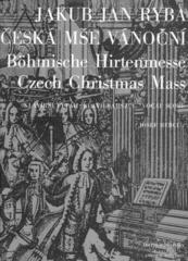Jakub Jan Ryba Česká mše vánoční Music Book