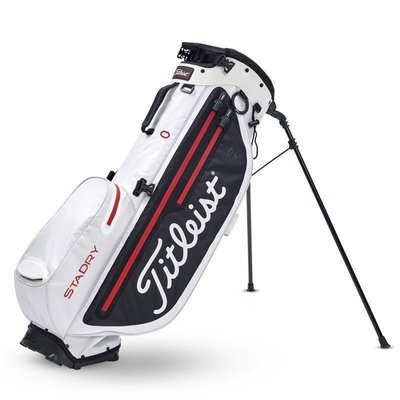 Titleist Players 4 Plus StaDry White/Black/Red Stand Bag