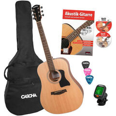 Cascha HH 2141 EN Dreadnought Acoustic Guitar Bundle