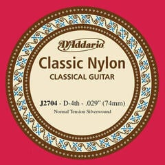D'Addario J2704 Single Silver Wound 030/J27 4th Normal Tension