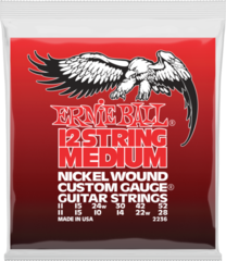 Ernie Ball 2236 Medium 12-String Electric Guitar Strings - 11-52