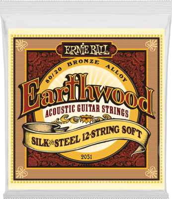 Ernie Ball 2051 Earthwood Silk & Steel Soft 12-String Acoustic