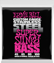 Ernie Ball 2844 Super Slinky Stainless Steel Bass Strings