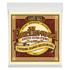 Ernie Ball 2063 Earthwood 5-String Banjo Bluegrass Loop End Acoustic