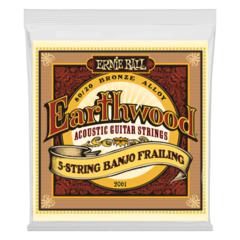 Ernie Ball 2061 Earthwood 5-String Banjo Frailing Loop End Acoustic